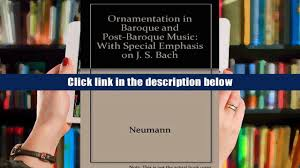 free ornamentation in baroque and post baroque