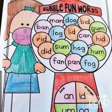 N Cvc Words by Cvc Words Worksheets Bubblegum Style Frog Spot