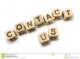contact us written with wooden blocks stock illustration image