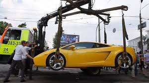 yellow lamborghini png gallardo parked on tram line is towed in kiev autoevolution