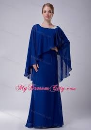 column scoop floor length chiffon appliques mothers dresses with