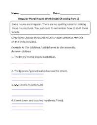 singular and plural nouns worksheets back to pinterest