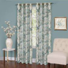 Gray And Teal Curtains Green Curtains Drapes Window Treatments The Home Depot