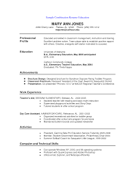 Chronological Sample Resume by Sample Combination Resume Free Resume Example And Writing Download