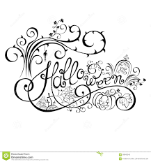 vector halloween vector halloween hand drawn lettering stock vector image 58849240