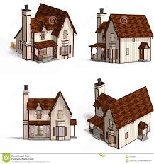 medieval houses cottage royalty free stock photography image