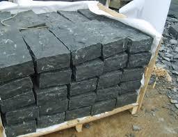 Granite Patio Pavers Flamed Honed Black Basalt Granite Patio Pavers For Outdoor