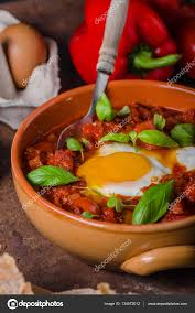 id cuisine simple shakshuka simple and delicious stock photo peteer 134672012