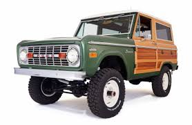 bronco car 2016 this 1974 ford bronco has been restored with real wood paneling