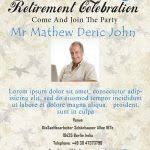 free retirement party invitation flyer templates stackerx info