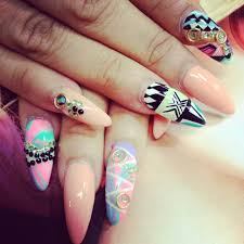 ugly ugly ugly nails the shape the paint imho its a nasty