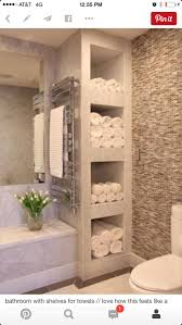 bathroom towel display ideas bathroom shelving ideas best 25 bathroom shelves ideas on