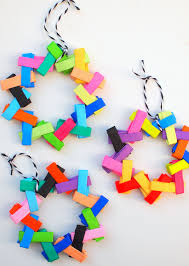 origami paper tree ornaments diycandy