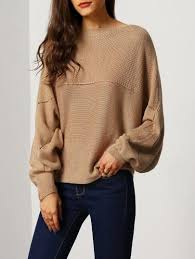 brown sweater brown batwing boat neck sweater boat neck boating and brown