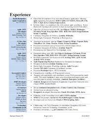 Sample Resume For C Net Developer by Download Scrum Master Resume Haadyaooverbayresort Com