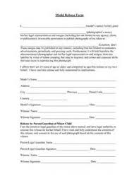model release form template free 28 images sle model release