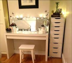 Diy Vanity Table Simple Diy Makeup Vanity Table With Glass Top And Wooden Base