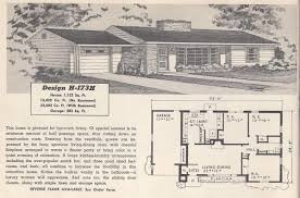 1950s homes vintage house plans 173h antique alter ego