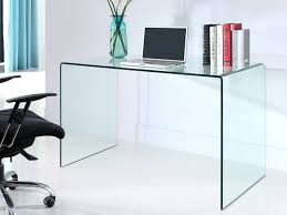 bureau elstron verre trempé 12mm transparent 120 cm