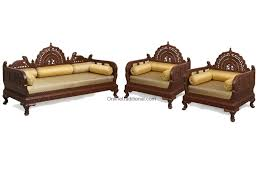 Teak Wood Furniture Online In India Design Carving Teak Wooden Maharaja Sofa Sets Pearl Handicrafts