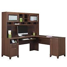 l shaped desk with hutch right return right return l desks browse all office furniture