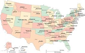 map showing states and capitals of usa us map capitals and cities map of usa showing state names