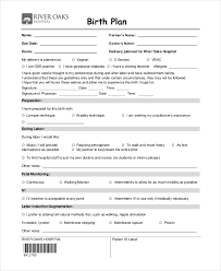 birth plan sample sample birth plan sample natural birth plan