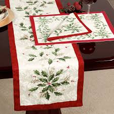 Dining Room Linens by Lenox Holiday Table Linens