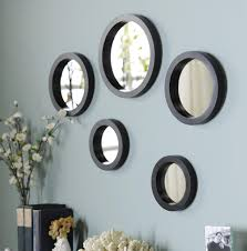 Bedroom Wall Decor Sets Circle Mirror Set Of 5 Mirror Set Wall Accessories And