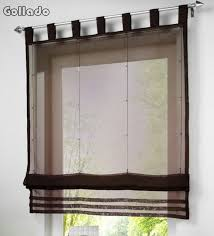 sheer window treatments new european popular solid color kitchen balcony voile roman