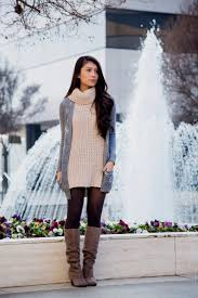 sweater dress with boots and tights naf dresses