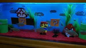custom mario lego aquarium decoration ornaments at aquarist
