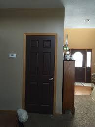 oak trim with dark doors