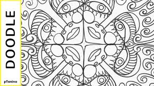 easy mandala doodle faces how to draw a coloring page simple