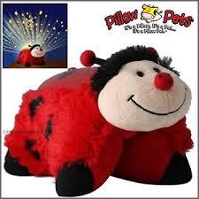 light up ladybug pillow pet pillow pets dream lites ms ladybug ladybird night light soft cuddle