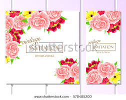 invitation marriage vintage delicate invitation flowers wedding marriage stock vector