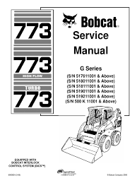 bobcat 773 service repair manual elevator mechanical engineering