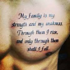 for my tattoos for with family meaning family