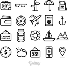travel icons images Set of simple travel icons free vector in adobe illustrator ai jpg