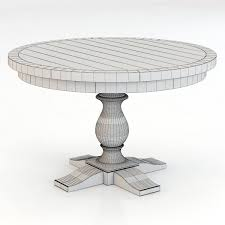 17th C Monastery Round Dining Table Restoration Hardware Monastery Round Dining Table 3d Model Max Obj