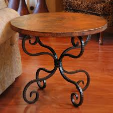 Wrought Iron Sofa Tables by Alexander Wrought Iron End Table With 30in Round Top Timeless
