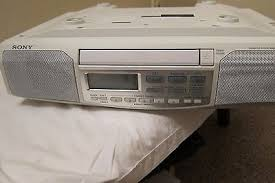 sony icf cd513 under cabinet cd player kitchen clock radio stereo