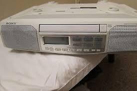 Kitchen Radios Under Cabinet Sony Icf Cd513 Under Cabinet Cd Player Kitchen Clock Radio Stereo