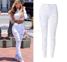 Skinny Jeans With Holes Women U0027s Ripped High Waist Skinny Jeans