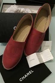 Flatshoes Red Chanel Espadrilles Flat Shoes