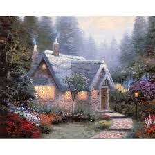 kinkade cedar nook cottage prints