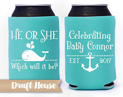 baby shower koozies draft house custom can coolers and party favors by drafthouse