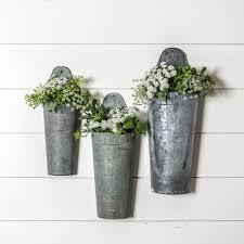 Galvanised Vases Stella Hanging Pocket Magnolia Market Chip U0026 Joanna Gaines