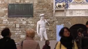 Michelangelo David Statue Michelangelo David Statue In Piazza Della Signoria Florence Stock
