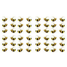 bumble bee decorations bumble bee 45222 4 cake dec ons decorations 48 pack by decopac